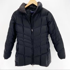 Lands' End Puffer Down Coat Black size Small
